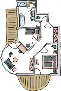 Grundriss Suite Bellevue